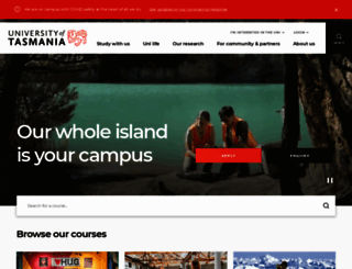 utas.edu.au screenshot