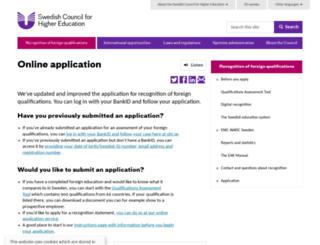 utbildningsbedomning-en.uhr.se screenshot