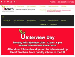 uteachrecruitment.co.uk screenshot