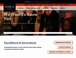 utica.edu screenshot