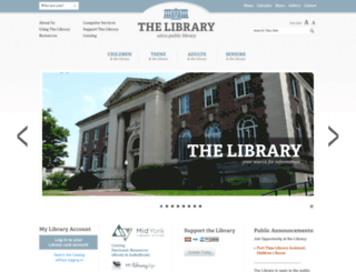 uticapubliclibrary.org screenshot