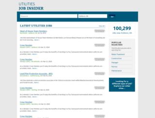 utilitiesjobinsider.com screenshot