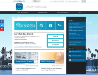 utilityservices.longbeach.gov screenshot