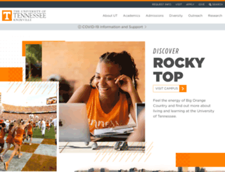 utk.edu screenshot
