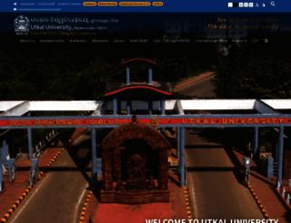 utkaluniversity.ac.in screenshot
