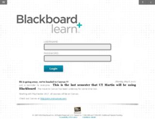 utm.blackboard.com screenshot
