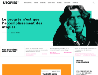 utopies.com screenshot