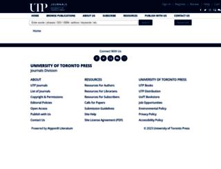 utpjournals.press screenshot