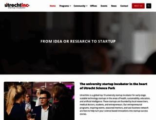 utrechtinc.nl screenshot