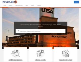 utsa.collegiatelink.net screenshot