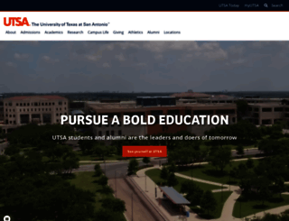 utsa.edu screenshot