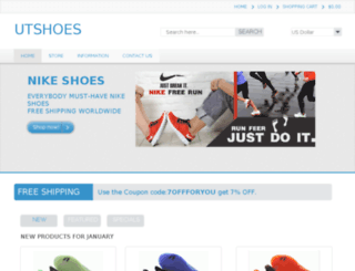 utshoes.com screenshot