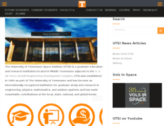 utsi.edu screenshot