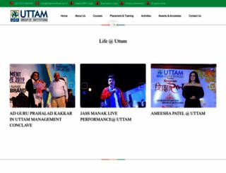 uttaminstitute.ac.in screenshot