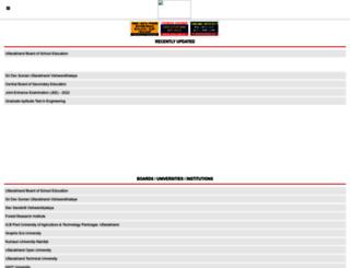 uttarakhand.indiaresults.com screenshot