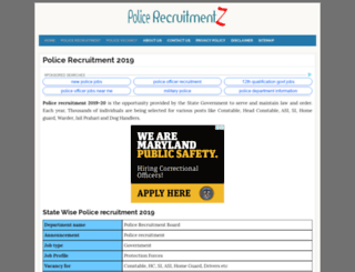 uttarakhand.policerecruitments.in screenshot
