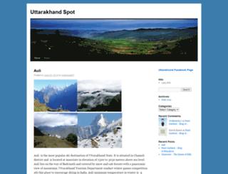 uttarakhandspot.wordpress.com screenshot