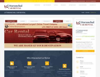 uttaranchalcarrental.net screenshot