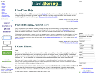 utterlyboring.com screenshot