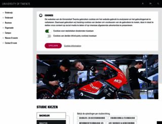 utwente.nl screenshot