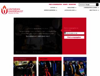 uua.org screenshot