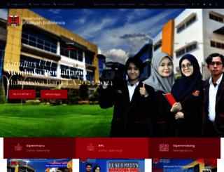 uui.ac.id screenshot