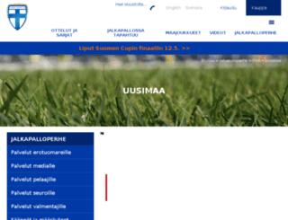 uusimaa.palloliitto.fi screenshot