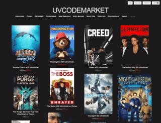 uvcodemarket.tictail.com screenshot