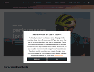 uvexsports.com screenshot