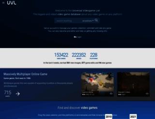 uvlist.net screenshot