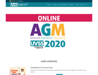 uvss.uvic.ca screenshot