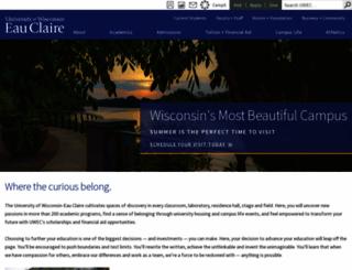 uwec.edu screenshot