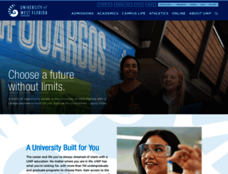 uwf.edu screenshot