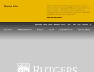 uwide.rutgers.edu screenshot