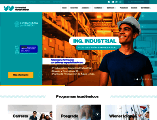 uwiener.edu.pe screenshot