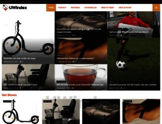 uwindex.nl screenshot