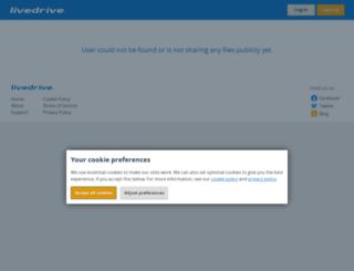 uwjbhfyy.livedrive.com screenshot