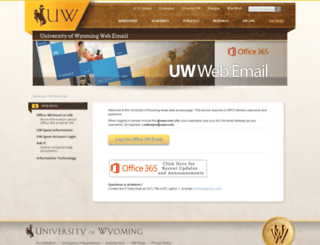 uwmail.uwyo.edu screenshot