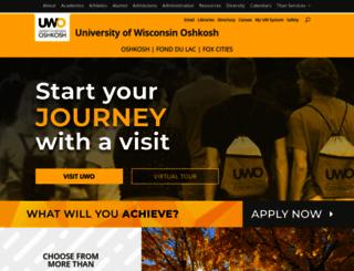uwosh.edu screenshot