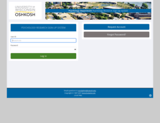 uwosh.sona-systems.com screenshot
