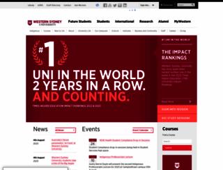 uws.edu.au screenshot