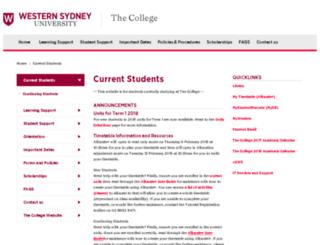 uwscollege.edu.au screenshot