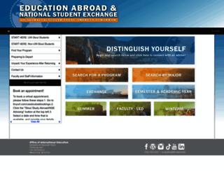 uwstout.studioabroad.com screenshot