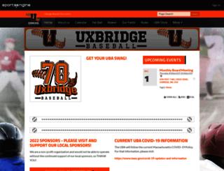 uxbridgebaseball.com screenshot