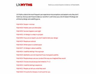 uxmyths.com screenshot