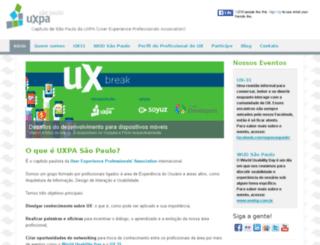 uxpasaopaulo.com.br screenshot