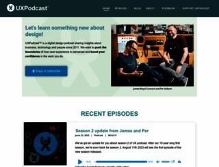 uxpodcast.com screenshot