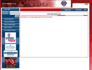 uysa-2015usaadidascup.sportsaffinity.com screenshot