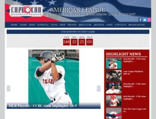 v2.capecodbaseball.org screenshot