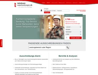 v2.infodienst-ausschreibungen.ch screenshot